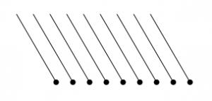 Degtukai - devyni degtukai penki trikampiai