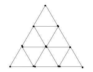 Degtukai - iš trylikos trikampių septyni trikampiai