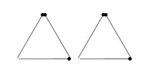 Degtukai - keturi trikampiai
