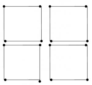 Degtukai - penki kvadratai