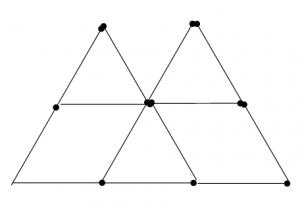 Degtukai - piramidė ir penki trikampiai - atsakymas 3