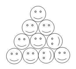 monetos - trikampis