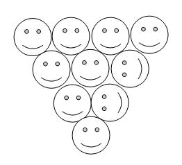 monetos - trikampis - atsakymas