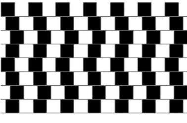 Ar horizontalios linijos tikrai lygiagrečios?